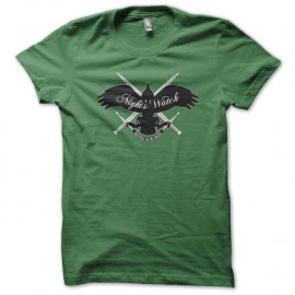 Shirt Game of Thrones Nights Watch green pour homme et femme