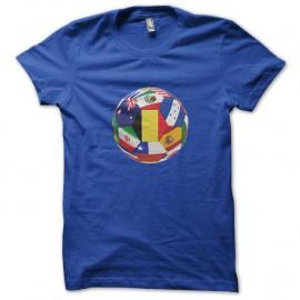 Shirt ballon drapeaux international bleu pour homme et femme