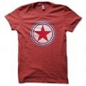 Shirt coree du nord cocarde rouge pour homme et femme