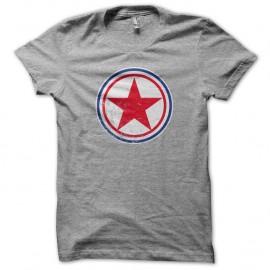 Shirt coree du nord cocarde gris pour homme et femme
