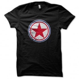 Shirt coree du nord cocarde noir pour homme et femme