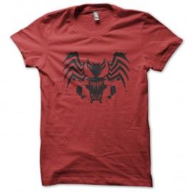 Shirt spider man mix venom rouge pour homme et femme