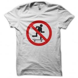 Shirt non au skateur blanc pour homme et femme