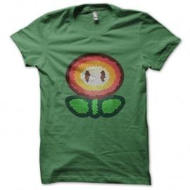 Shirt fleur mario bros vert pour homme et femme