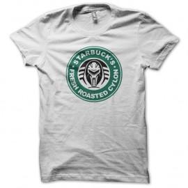 Shirt Starbuck fresh roasted cylon blanc pour homme et femme