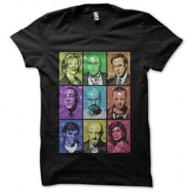 Shirt Breaking Bad Rainbow - Noir pour homme et femme