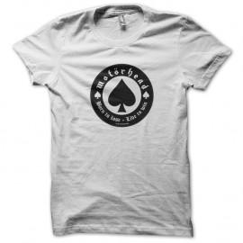 Shirt Motorhead blanc pour homme et femme