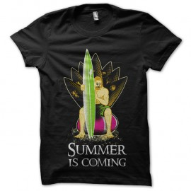 Shirt summer is coming noir pour homme et femme