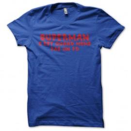 Shirt superman homo bleu royal pour homme et femme
