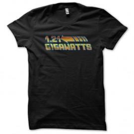 Shirt 1.21 Gigawatts façon retour vers le futur noir pour homme et femme