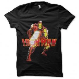 Shirt Iron Man Laser noir pour homme et femme