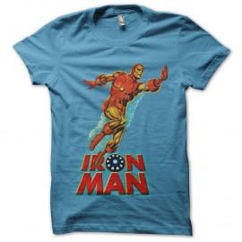 Shirt Iron Man Water turquoise pour homme et femme
