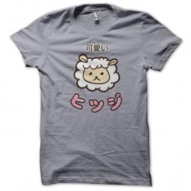 Shirt mouton Kawaii gris pour homme et femme