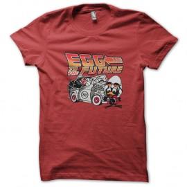 Shirt Egg to the Future rouge pour homme et femme