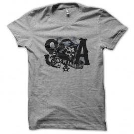 Shirt SOA logo noir sur gris pour homme et femme
