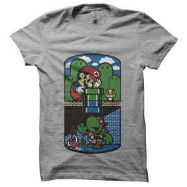 Shirt Mario et tortue ninja - gris pour homme et femme