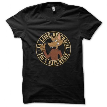 Shirt laine de chacal noir pour homme et femme