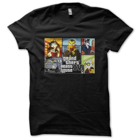 Shirt gta 4 beast house version noir pour homme et femme