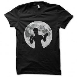 Shirt bruce lee ombre pleine lune noir pour homme et femme