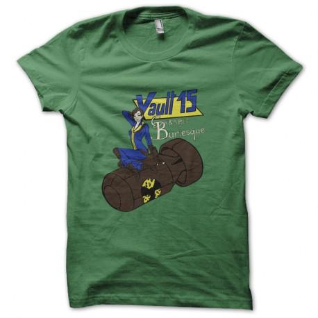 Shirt fallout cabaret burlesque vert pour homme et femme
