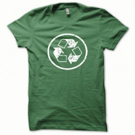 Shirt Recycled blanc/vert bouteille pour homme et femme