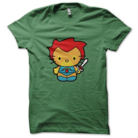 Shirt Hello kitty version sauvage vert pour homme et femme