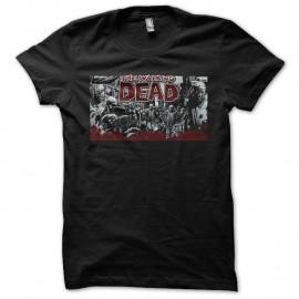 Shirt The walking dead noir pour homme et femme
