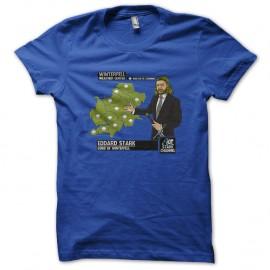 Shirt Winterfell meteo eddard stark bleu pour homme et femme