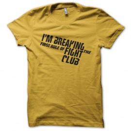 Shirt fight club jaune pour homme et femme