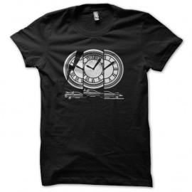 Shirt horloge retour vers le future noir pour homme et femme