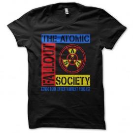 Shirt The atomic fallout noir pour homme et femme
