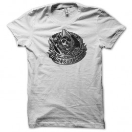 Shirt Sons of Anarchy logo blanc pour homme et femme
