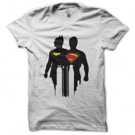 Shirts batman superman ombres blanc pour homme et femme