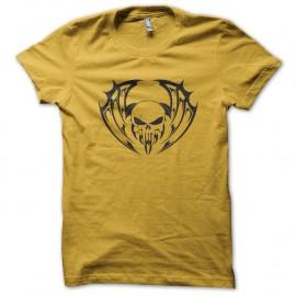 Shirt Skull Bat jaune pour homme et femme