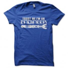 Shirt trust me i m an engineer bleu pour homme et femme