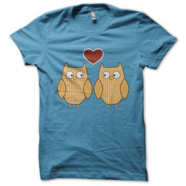 Shirt bird in love bleu ciel pour homme et femme