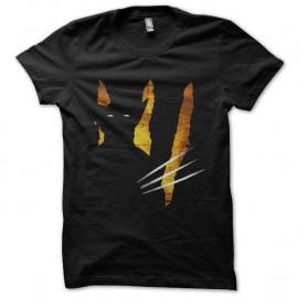 Shirt wolverine effets ombre griffes noir pour homme et femme
