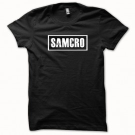Shirt Samcro Sons of anarchy origine blanc/noir pour homme et femme
