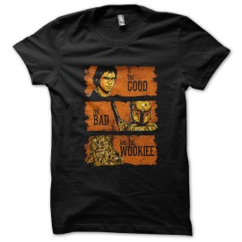 Shirt The good the bad and the wookiee noir pour homme et femme