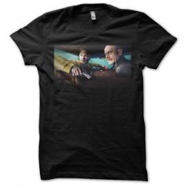 Shirt breaking bad affiche jesse et walter noir pour homme et femme