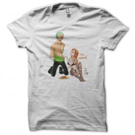 Shirt one piece solo et nami blanc pour homme et femme