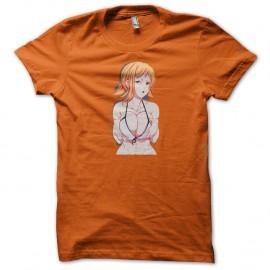 Shirt one piece nami sexy orange pour homme et femme