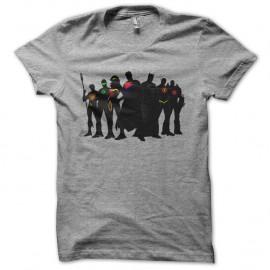 Shirt justice league super heros comics gris pour homme et femme