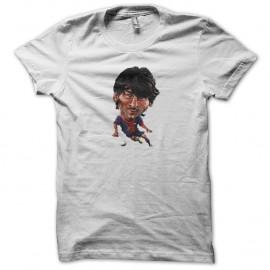 Shirt Lionel Messi cartoon blanc pour homme et femme