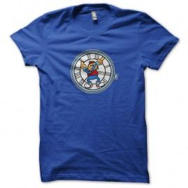 Shirt Mcfly et son horloge bleu pour homme et femme