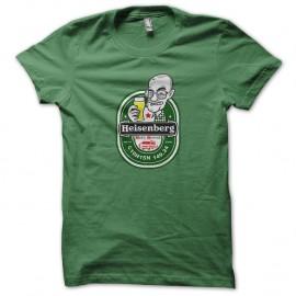 Shirt heisenberg detournement heineken nouvelle version vert pour homme et femme