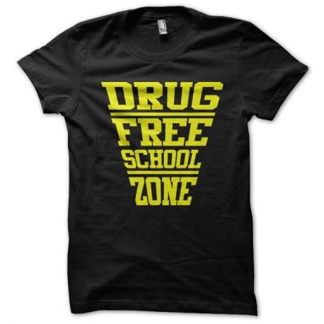 Shirt drug free school zone noir pour homme et femme