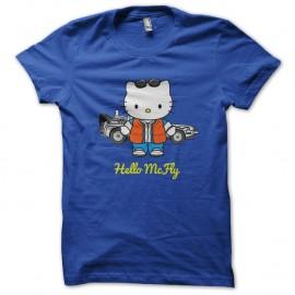 Shirt hello mcfly parodie hello kitty bleu pour homme et femme