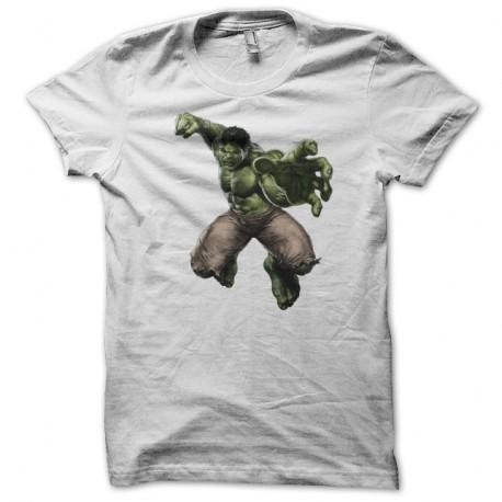 Shirt The Hulk blanc pour homme et femme