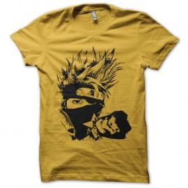 Shirt kakashi naruto artistique jaune pour homme et femme
